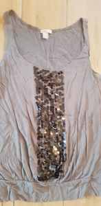 Gray sequin tank from Old Navy.